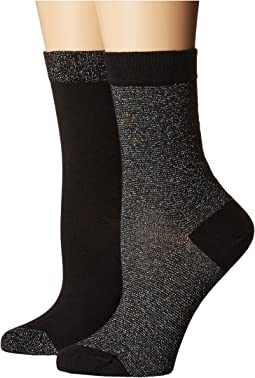 Pretty Polly - Lurex Stripe Socks 2PP