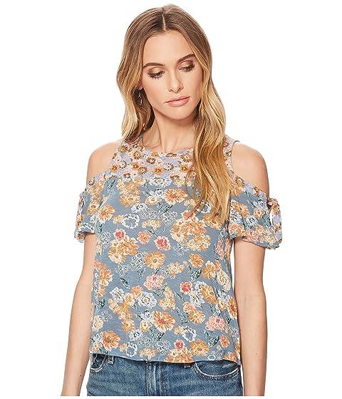 ef1d38129c4ee Shop Lucky Brand Floral Print Tie Cold Shoulder Top