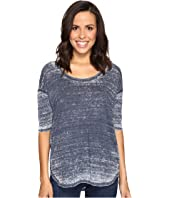 Allen Allen - Elbow Sleeve High-Low Tee