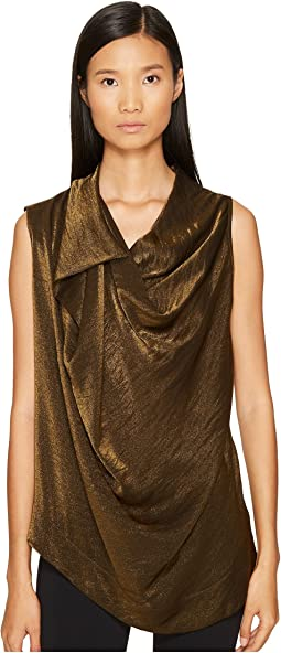 Duo Metallic Sleeveless Blouse