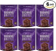 Brownie Brittle Dark Chocolate Sea Salt, 5 Ounce, Pack of 6