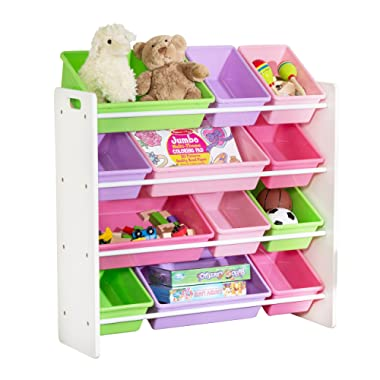 HoneyCanDo Kids Toy Storage Organizer With Bins, Pastel