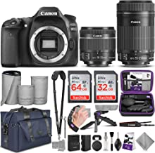 Canon EOS 80D DSLR Camera and Canon EF-S 18-55mm f/3.5-5.6 is STM + EF-S 55-250mm f/4-5.6 is STM Lens with Altura Photo Complete Accessory and Travel Bundle
