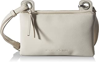 Denim TOM TAILOR bags AILA Damen Umhängetasche S, off white, 24x5x14