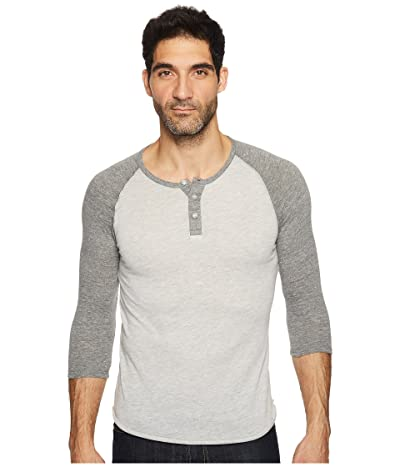 Alternative 3/4 Raglan Henley (Eco Oatmeal/Eco Grey) Men