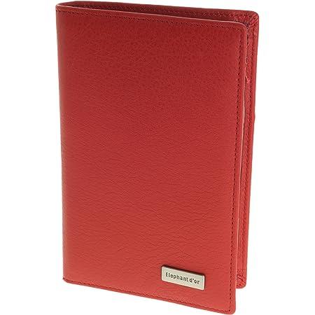 ELEPHANT D - Portadocumentos de papel para carta de coche, piel, 9 x 14,5 cm, colores a elegir, rojo (Rojo) - S5948R