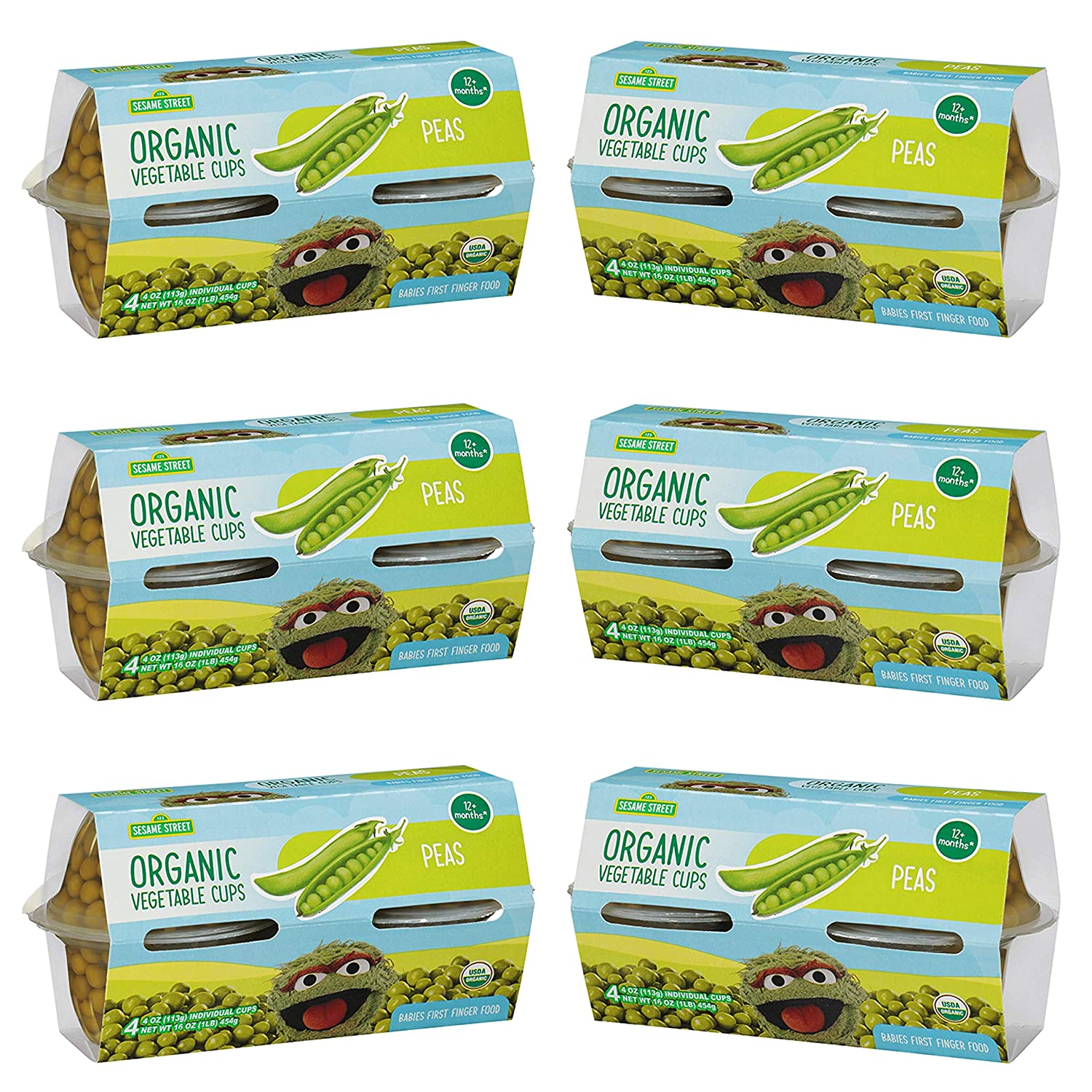 Boston Mall Sesame Street Organic Sweet Limited time sale Peas Food First Finger for Childre