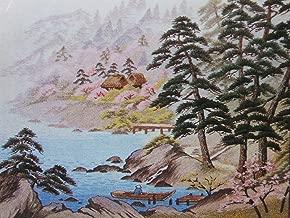 Tokyo Bunka Shishu 464 Forest Lake Landscape Japanese Punch Embroidery Kit