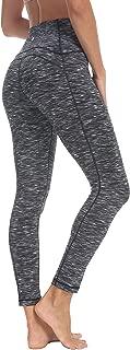 QUEENIEKE Women 25 Inches Yoga Leggings Sports Power Flex Mid-Waist Gym Running Tights 70824