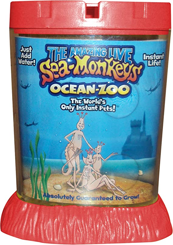1Pc Live Sea Monkeys Ocean Zoo Marine Monkey Tank Aquarium Habitat Toy Pet