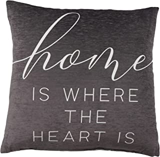 Artisan Home Home Is Where The Heart Is Decorative Throw Pillow | Indoor & Outdoor Home Decor | Fade Resistant Print | Siz...