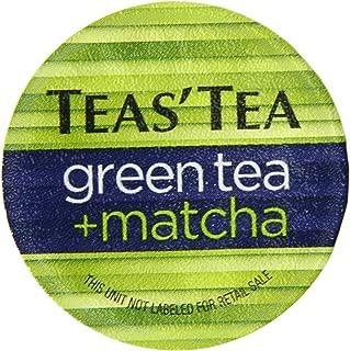 Teas' Tea Green Tea Plus Matcha Single Serve Cups (Pack of 12) Organic Zero Calories No Sugars No Artificial Sweeteners Antioxidant Rich High in Vitamin C