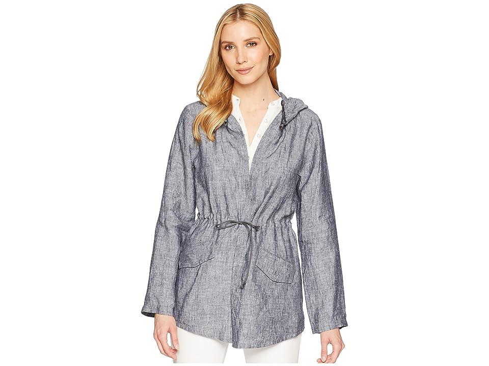 Elliott Lauren Linen Anorak with Hood (Charcoal) Women's Coat