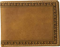 Aztec Embossed Edge Bifold Wallet