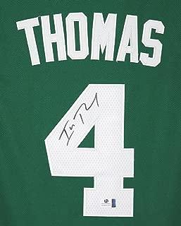 Isaiah Thomas Boston Celtics Signed Autographed Green #4 Jersey COA