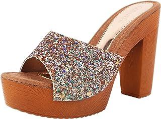 Catwalk Women's Glitter Front Platform Heels