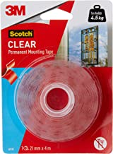 Scotch 4010C Heavy Duty Double Sided Mounting Tape, 21 mm x 4 m