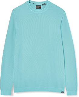 Superdry Garment Dyed Textured Crew Maglia a Maniche Lunghe Uomo
