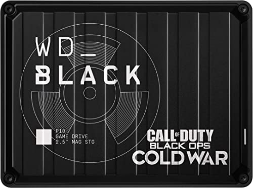 WD_Black 2TB P10 Game Drive Call of Duty Special Edition: Black Ops Cold War, Portable External Hard Drive HDD, Compa...