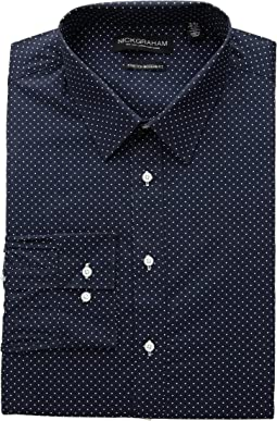 Pin Dot Stretch Dress Shirt