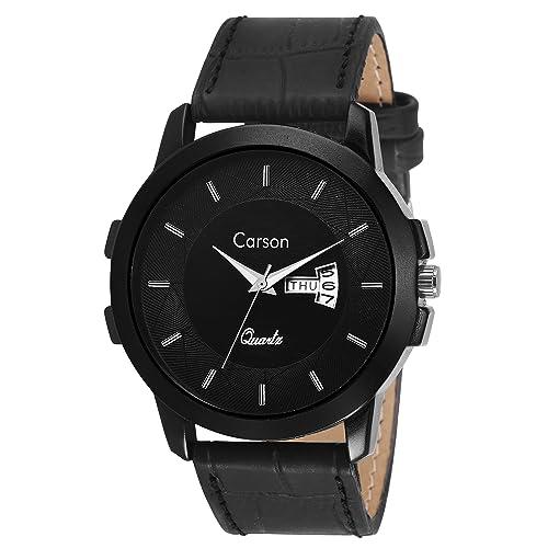 Carson Analogue Black Dial Men's Watch - Cr7114