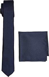 Navy Texture Set Conjunto de corbata, Azul (marino), Talla única para Hombre