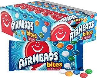 Airheads Bites Candy, Movie Theater Bag, Fruit, Non Melting, 2 oz (Bulk Pack of 18)