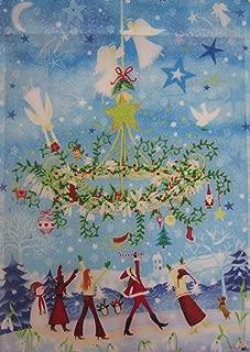 Festive Holiday Hanging Wreath Decorative Garden Flag