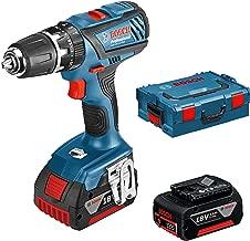 Bosch 0615990j28 Professional GSB 18–21–Atornillador, 2x 3, 63Nm dinamométrica, Portabrocas,Rango, L-Boxx, 1pieza