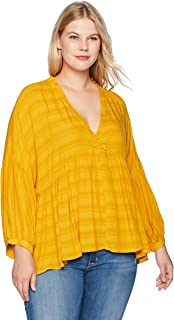 Best plus size yellow ruffle blouse Reviews