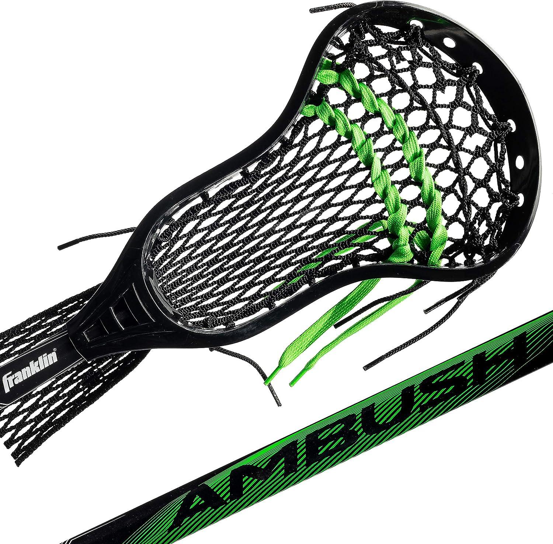 Franklin Sports Lacrosse Stick - Complete Lax Stick - Attack Stick - Boys/Men Lacrosse - Mesh Pocket - Attack/Midfielder - Ambush : Sports & Outdoors