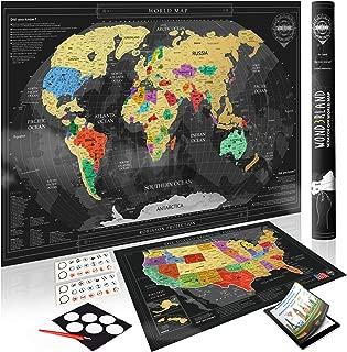 world map coin scratch