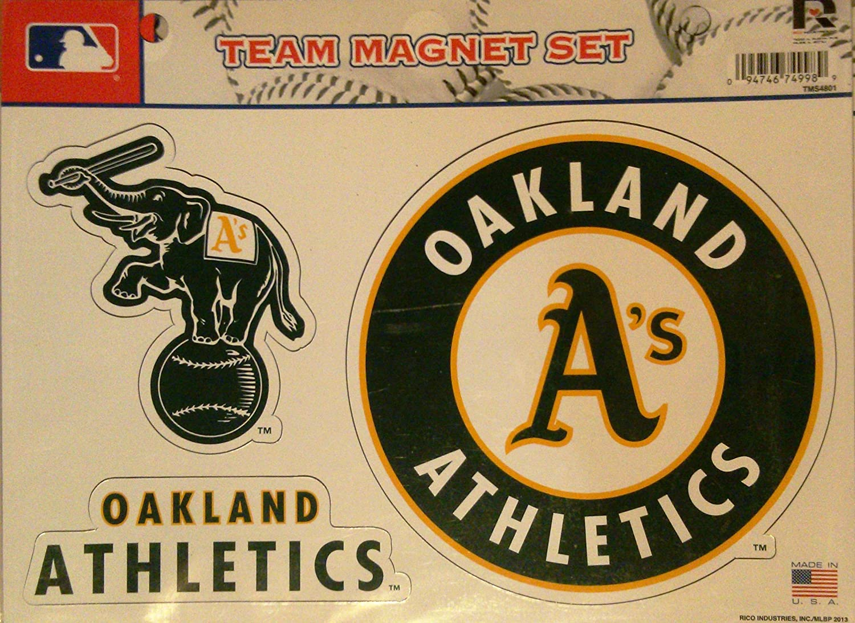 MLB Oakland Athletics Team Magnet Set : Sports & Outdoors