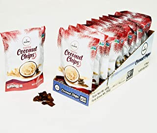 Coconut Chips Nome 12 Pack - 1.4oz (Chocolate) - Simple Ingredients - Non-GMO - Gluten Free - No Preservatives - Keto and Paleo Diet …