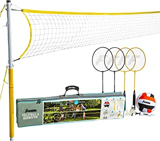 Franklin Sports Volleyball & Badminton Combo - Starter, Family, Professional Sets