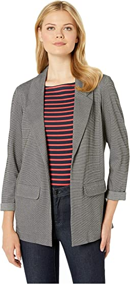 Boyfriend Blazer w/ Princess Darts in Novelty Textured Knit