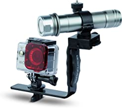 Best Divers ac4000kit Kit Becam Action Camera, 4K, 170°, 12MP, WiFi, 50m, ILLUMINATORE 1050lúmenes, Soporte Aluminio