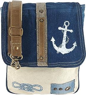 Sunsa Damen Messenger Bag Umhängetasche Handtasche, aus Jeans/Canvas & Leder. Große Crossbody Tasche Schultertasche, Gesch...