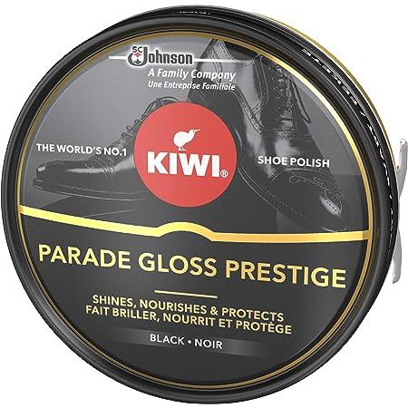KIWI Parade Gloss Prestige Cirage en pot métallique pour chaussures, brillance parfaite assurée pour vos chaussures en cuir, 50ml, Noir