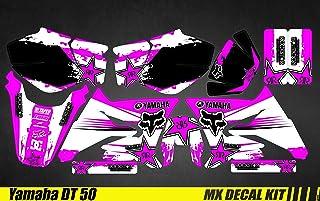 Kit Déco Moto/MX Decal Kit Yamaha DT50 , Pink Fox