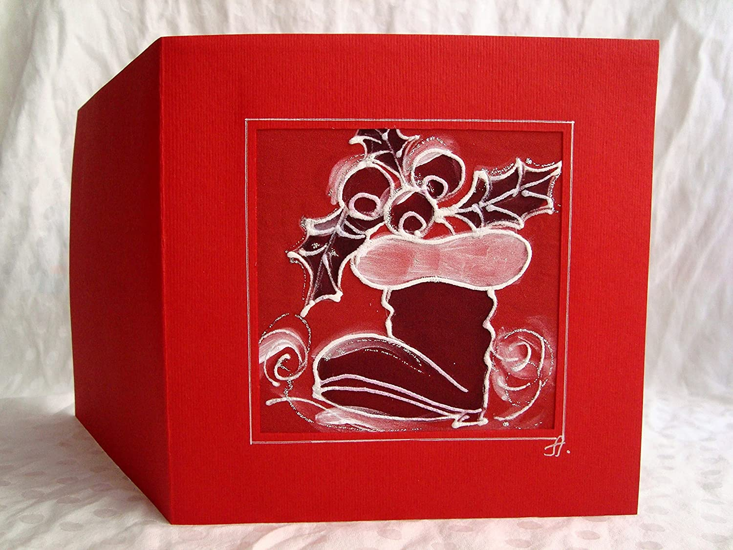 Christmas Boot Hand-Painted Card Painted Hol Max 79% OFF Hand card Free shipping on posting reviews