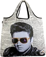 YaYbag-Hundreds of Prints-Multi-Functional Reusable Bags-Reusable Grocery Bags-Reusable Produce Bags Washable-Reusable Shopping Bags Foldable-Reusable Travel Bags-Art N Wordz Elvis Glasses