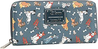 Loungefly Disney Dogs Wallet Zip Around Clutch Faux Leather