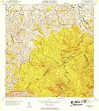 YellowMaps El Yunque PR topo map, 1:30000 Scale, 7.5 X 7.5 Minute, Historical, 1952, Updated 1953, 21.7 x 19.5 in