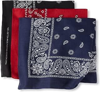 Levi's Men's 100% Cotton Multi-Purpose Bandana Gift Sets – Headband, Face Mask,wrap, Assorted, One Size