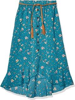 Amy Byer Girls' Big High Low Woven Maxi Skirt
