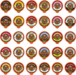 Crazy Cups Decaf Single Serve Flavored Coffee for Keurig K cup Brewer, 30 Count