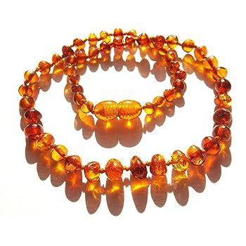 Collier Ambre 32-33cm 100/% Plus Haute Qualit/é Certifi/é lAmbre la Baltique Authentique Collier Perles de plus gros!! Multi