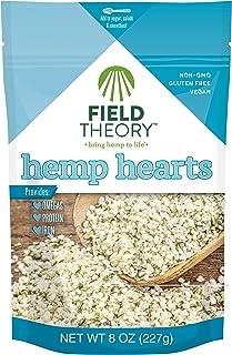 Field Theory Hemp Hearts, 8 oz; Shelled Hemp Seeds, Plant-Based Protein, Omegas, Vegan, Keto, Paleo, Gluten Free