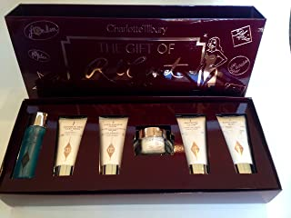 Charlotte Tilbury 'The Gift of Red Carpet Skin' 6 Piece Travel Gift Set - Magic Cream, Wonderglow, Clay Mask, Makeup Remover, Super Model Body, & Multi-miracle Glow